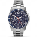 Sekonda 3317 Gents Stainless Steel Chronograph Blue Dial Sports Watch